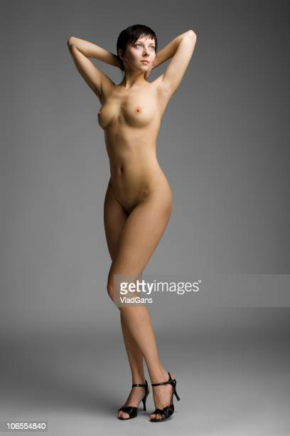 Nude standing girl