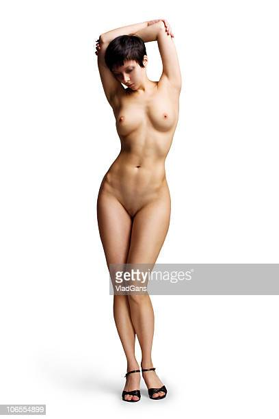 nude standing girl - naturism stock photos and pictures