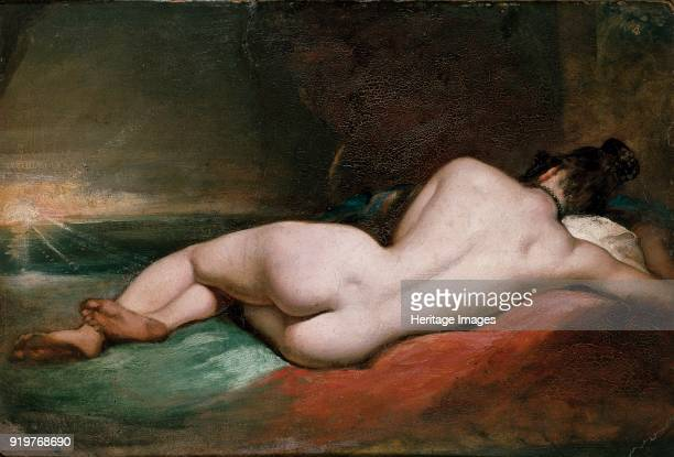 Nude Woman reclining, early 19th century. Artist William Etty.