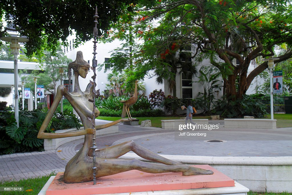 A nude woman sculpture at the University Miami Jackson