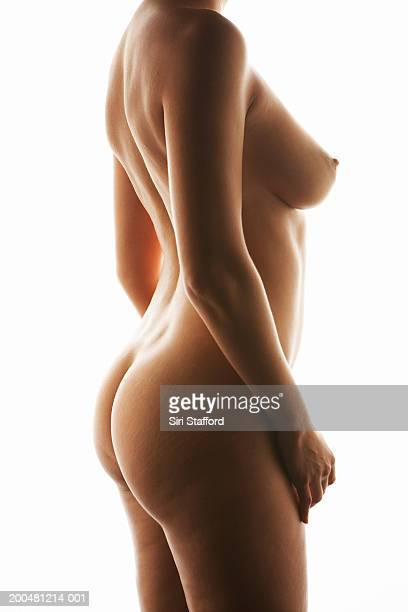 Nude woman, side view