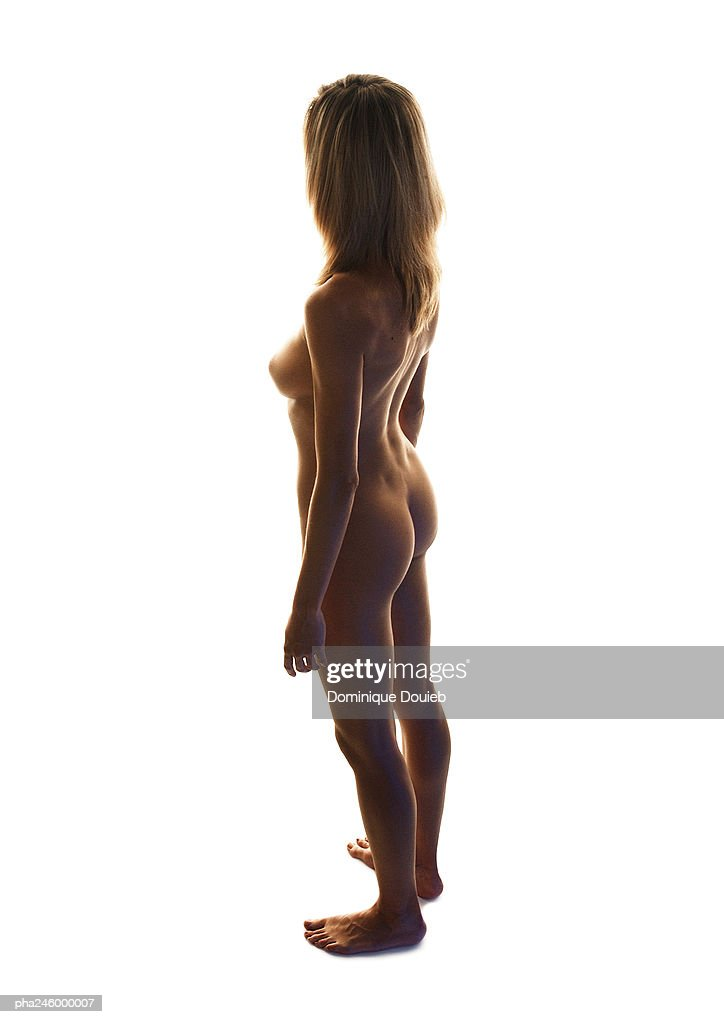 Nude woman, side view : Stockfoto