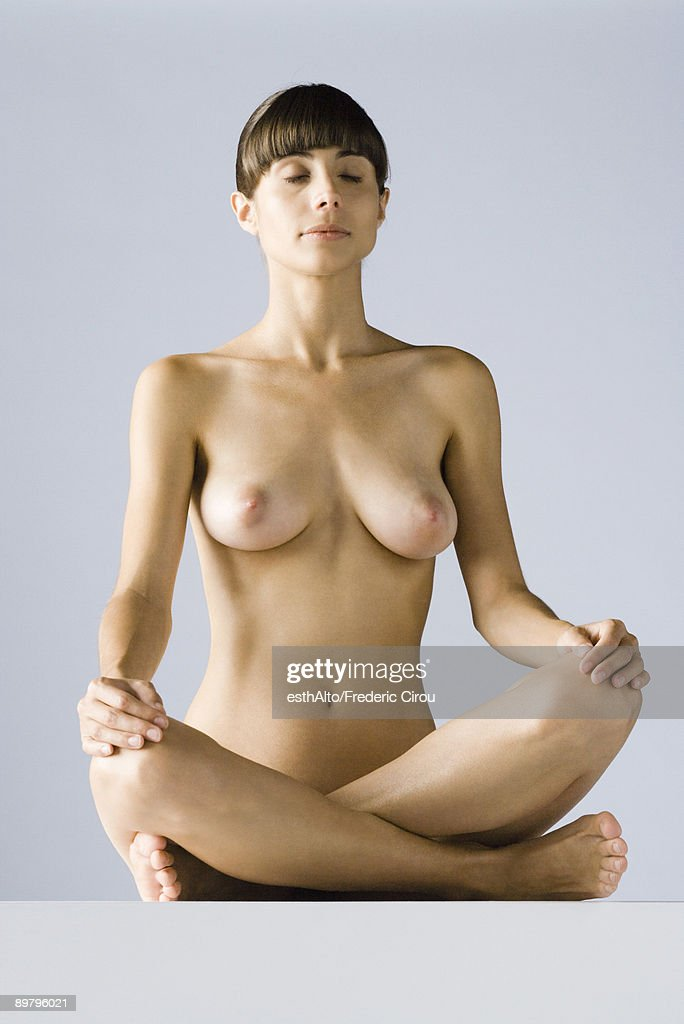 Nude woman sitting in lotus position eyes closed nude woman sitting in lotus position eyes closed voltagebd Image collections