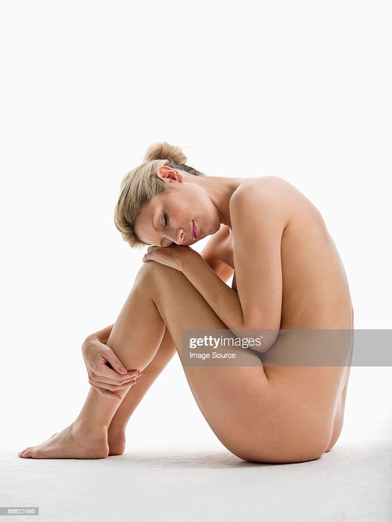 Nude Woman Sitting Stock Photo - Getty Images-2742