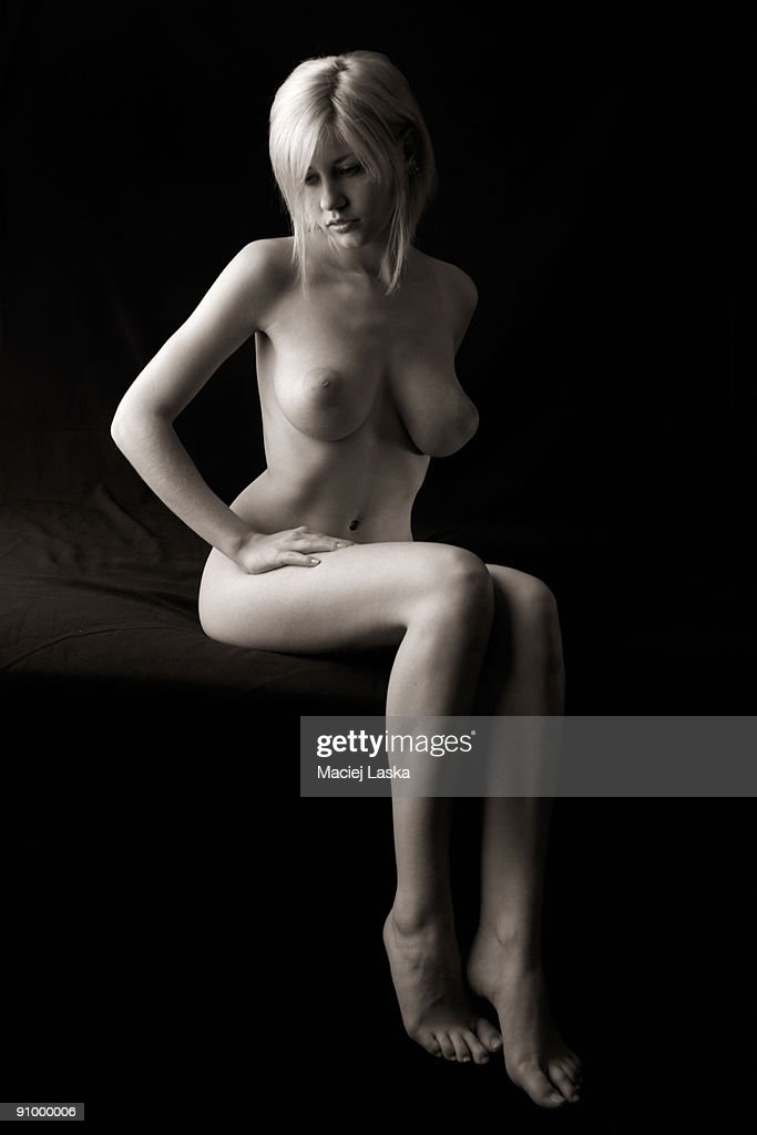 Nude Woman Sitting Stock Photo - Getty Images-6699