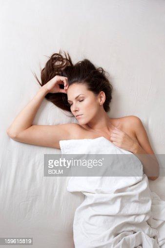 Sleeping in bathtub nude 7