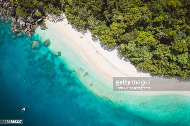 nudey beach sunbathers - cairns stock pictures, royalty-free photos & images