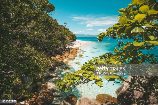 nudie beach fitzroy island - nudie stock pictures, royalty-free photos & images