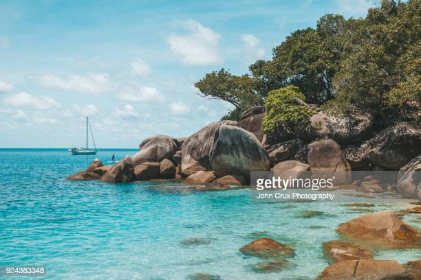 nudie beach yacht - nudie stock pictures, royalty-free photos & images