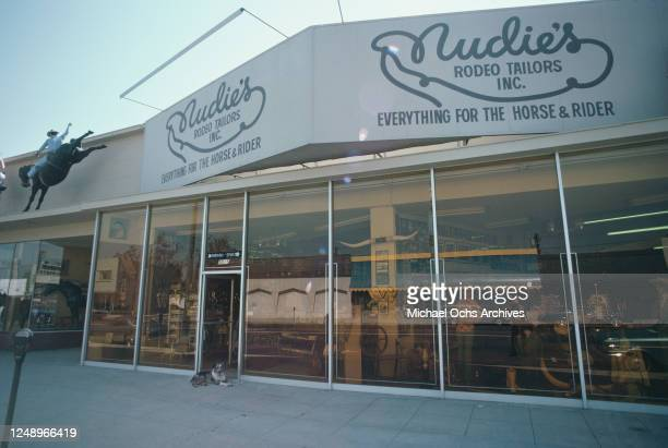 Nudie's Rodeo Tailors Inc, the premises of Nudie Cohn on Lankershim Boulevard in North Hollywood, USA, July 1974.