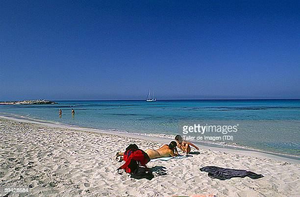 Nudist beach in Levante Formentera Photo by Taller de Imagen /Cover/Getty Images
