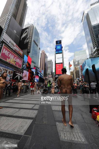 Nudists in Times Square New York City