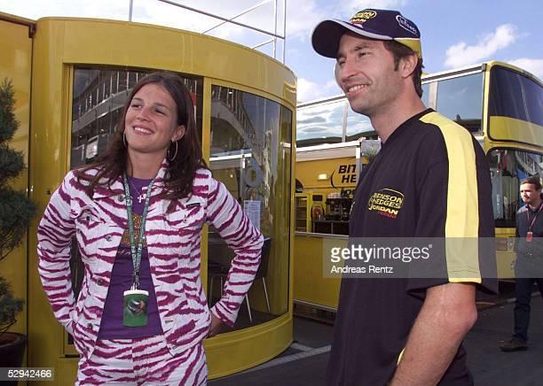 EUROPA 2001 Nuerburgring Tanja FRENTZEN und HeinzHarald FRENTZEN /JORDAN HONDA