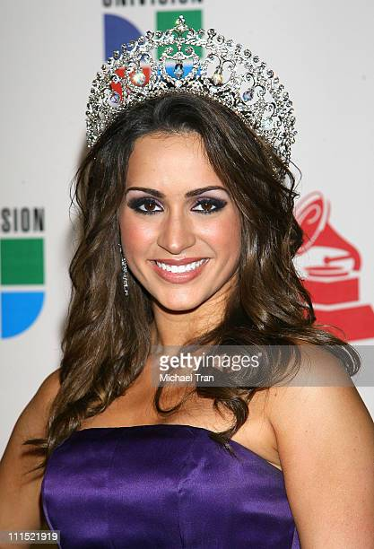 Nuestra Belleza Latina 2008 Melissa Marty arrives at the 9th Annual Latin Grammy Awards held at Toyota Center on November 13 2008 in Houston Texas