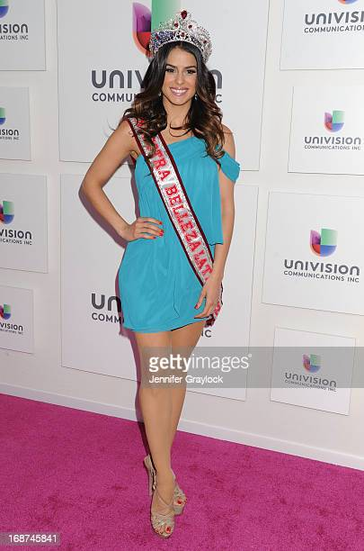 Nuestra Belleza Latina 2012 Beauty Queen Vanessa De Roide attends the 2013 Univision Upfront Presentation at Espace on May 14 2013 in New York City