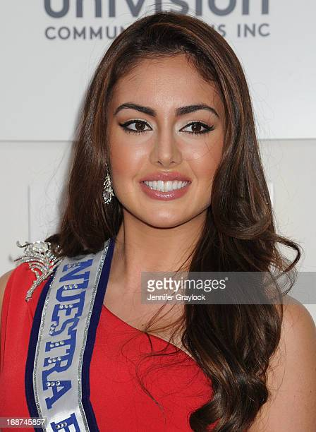 Nuestra Belleza Latina 2013 Beauty Queen Contestant Barbara Turbay attends the 2013 Univision Upfront Presentation at Espace on May 14 2013 in New...