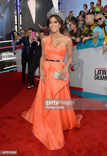 Nuestra Belleza Latina 2015 Francisca Lachapel attends the 16th Latin GRAMMY Awards at the MGM Grand Garden Arena on November 19 2015 in Las Vegas...