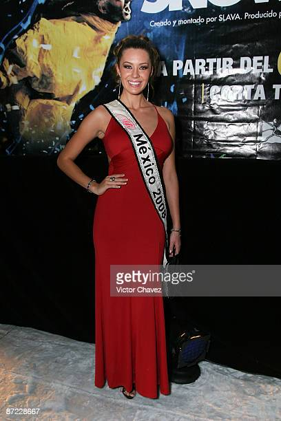 Nuestra Belleza Mexico 2008 Karla Carrillo attends the Slava's Snowshow premier at the Telmex theater on May 13 2009 in Mexico City Mexico