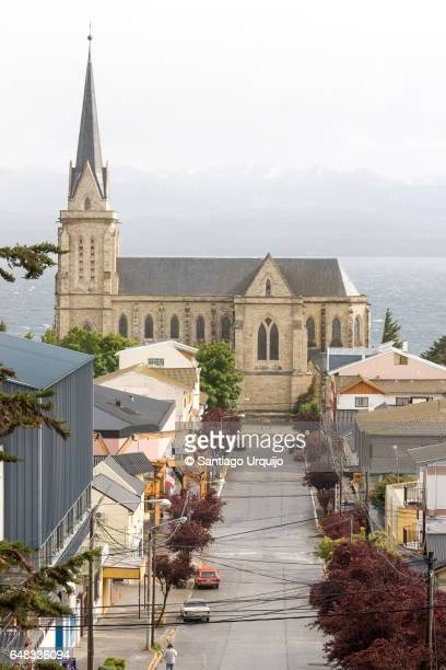 nuestra senora de nahuel huapi cathedral - bariloche stock pictures, royalty-free photos & images