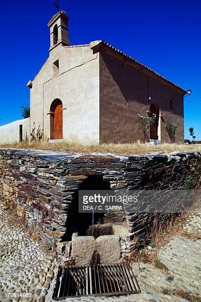 Nuestra Senora del Socorro church, Villarreal de San Carlos, Monfrague National Park , Extremadura, Spain.