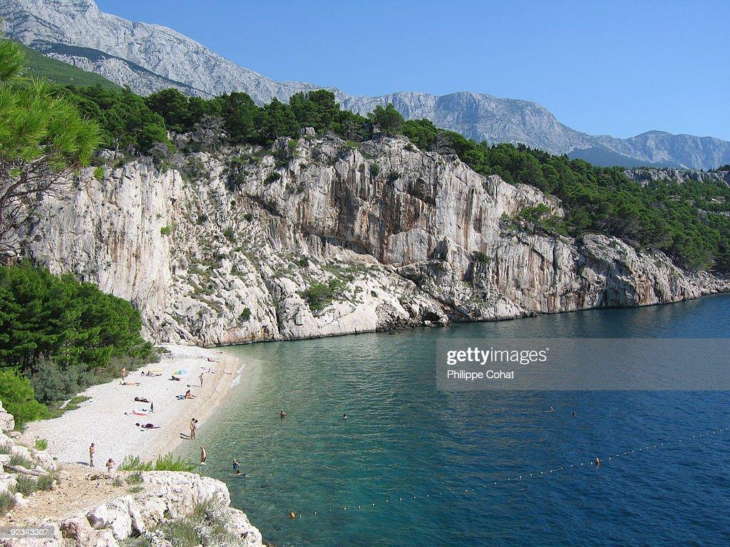 Nugal beach, Makarska. Croatia. : Stock Photo