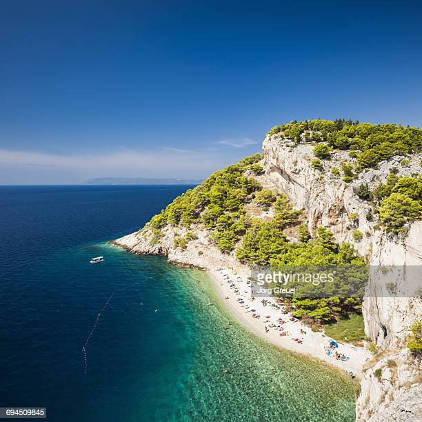 nugal beach - croatia stock pictures, royalty-free photos & images