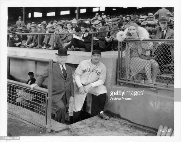 JC Nugent Eddie Gribbon and Bessie Love at the ball park in a scene from the film 'They Learned About Women' 1930