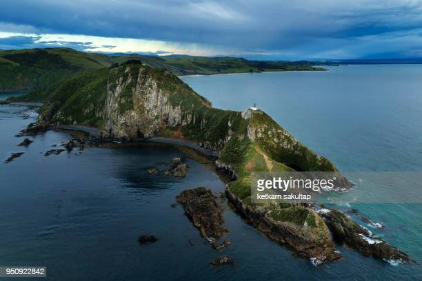 Nugget Point lighthouse, the Catlins, South Island, New Zealand, Pacific
