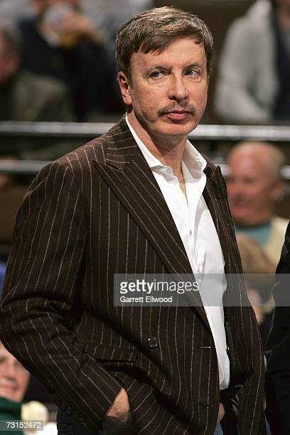 Nuggets owner E Stanley Kroenke during the NBA game between the Atlanta Hawks and the Denver Nuggets on December 6 2006 at the Pepsi Center in Denver...