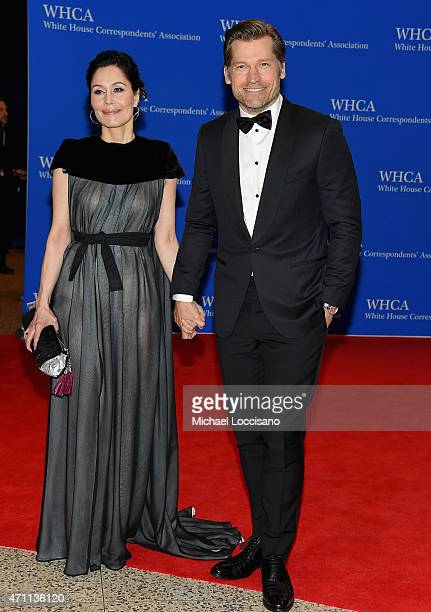 Nukaaka CosterWaldau and Nikolaj CosterWaldau attend the 101st Annual White House Correspondents' Association Dinner at the Washington Hilton on...