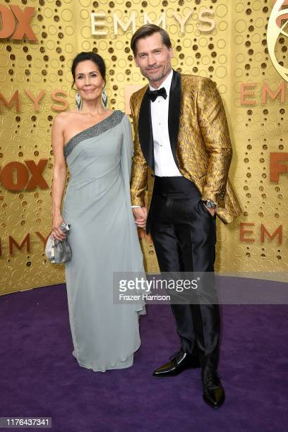 Nukaaka Coster-Waldau and Nikolaj Coster-Waldau attend the 71st Emmy Awards at Microsoft Theater on September 22, 2019 in Los Angeles, California.