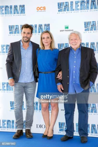 """Numa Paulet, Marie Guillard and Jacques Guillard attend """"Valerian et la Cite desMille Planetes"""" Paris Premiere at La Cite Du Cinema on July 25, 2017..."""