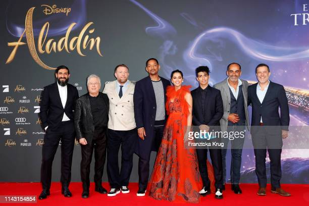 Numan Acar Alan Menken Guy Ritchie Will Smith Naomi Scott Mena Massoud Navid Negahban attend the movie premiere of Aladdin at UCI Luxe Mercedes Platz...