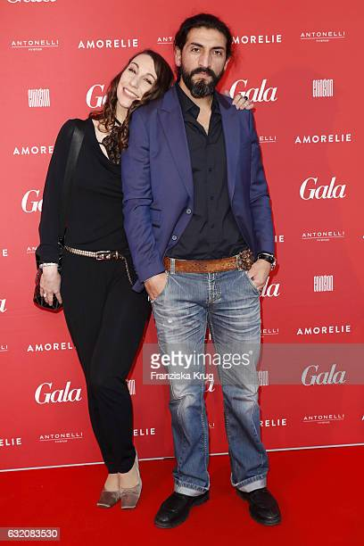 Numan Acar and a guest attend the 'Gala' fashion brunch during the MercedesBenz Fashion Week Berlin A/W 2017 at Ellington Hotel on January 19 2017 in...
