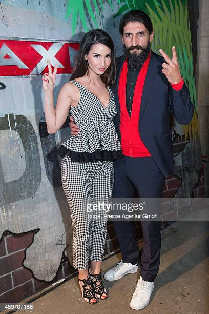 Numan Acar and Sila Sahin attend the premiere for the AXN series 'Kingdom' on September 23 2015 in Berlin Germany