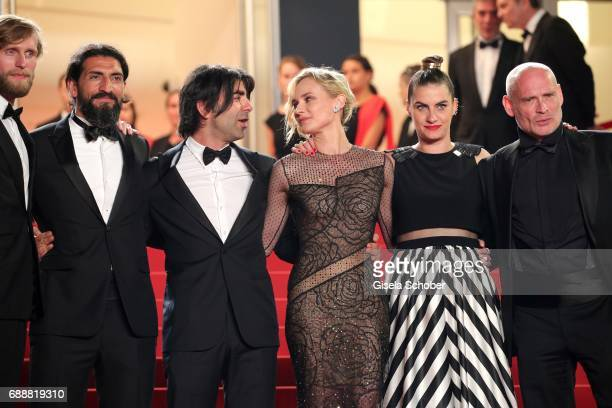 Numan Acar director Fatih Akin Diane Kruger Samia Muriel Chancrin and Johannes Krisch attend the 'In The Fade ' screening during the 70th annual...