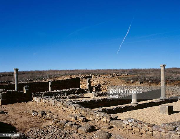 Numancia Ancient Celtiberian settlement Famous in the Celtiberian Wars Roman ruins Near Soria Spain