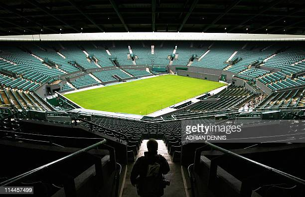 Number 1 court is pictured at the All England Lawn Tennis and Croquet Club in Wimbledon in south London 22 February 2007 Wimbledon chiefs announced...