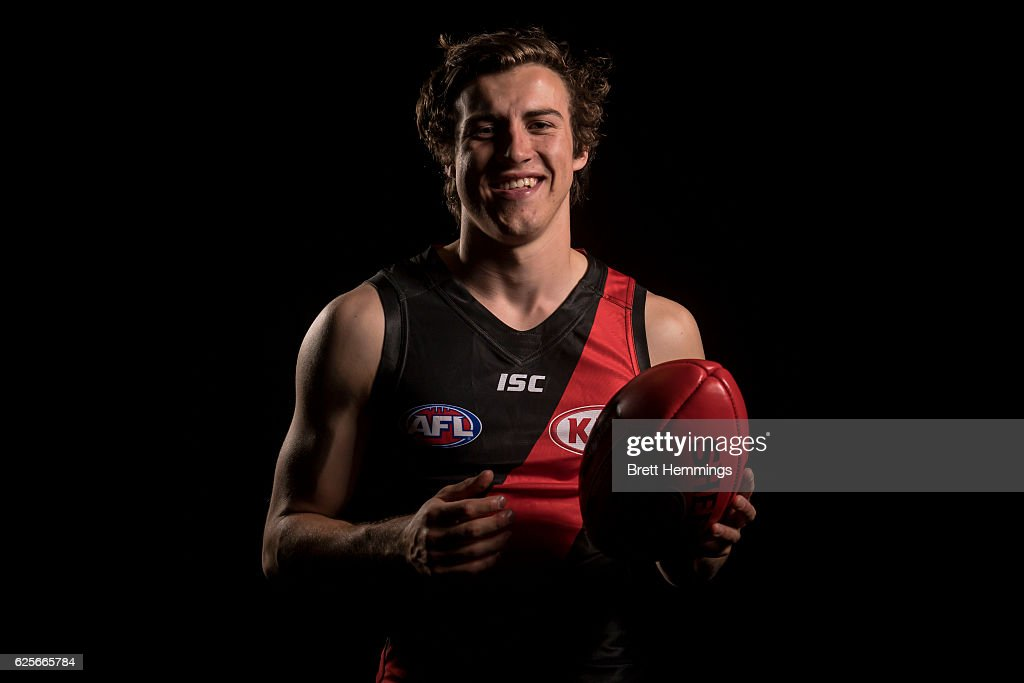Number 1 draft pick Andrew Mcgrath of the Essendon Football Club poses for a photo during the 2016 AFL Draft at Hordern Pavilion on November 25, 2016 in Sydney, Australia.