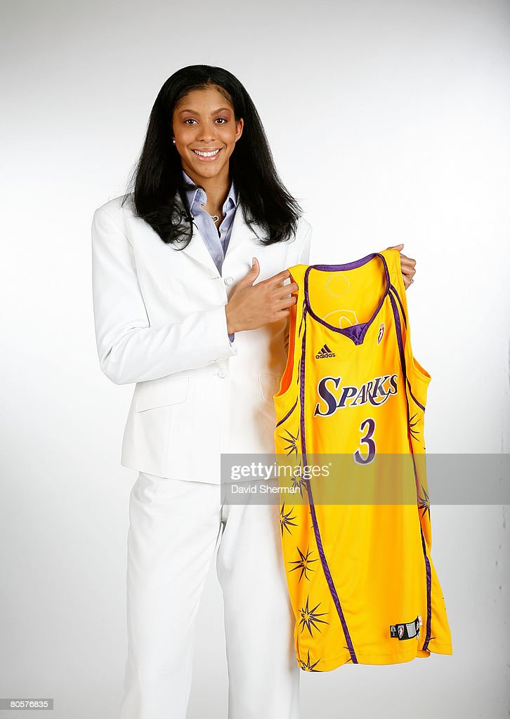 Number 1 overall pick by the Los Angeles Sparks Candace Parker from the University of Tennessee poses for a portrait with her new jersey during the 2008 WNBA Draft on April 9, 2008 at the Innisbrook Resort & Golf Club in Palm Harbor, Florida.