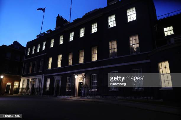 Number 10 Downing Street stands in London UK on Thursday March 14 2019 UK Prime MinisterTheresa Mayenjoyed a rare good day in Parliament fighting...