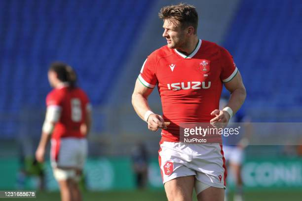 Number 10 of Wales Dan Biggar during the 2021 Guinness Six Nations Rugby Championship match between Italy and Wales at the Olimpic Stadium in Rome,...