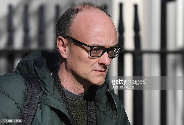 Number 10 special advisor Dominic Cummings arrives at 10 Downing Street in central London to attend the Government's daily COVID19 briefing on April...