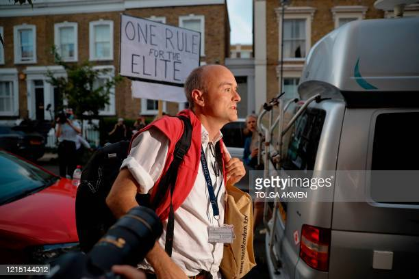 Number 10 special advisor Dominic Cummings arrives home in London on May 25 after giving a press conference answering allegations he and his family...