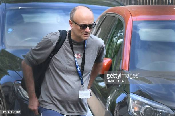 Number 10 special advisor Dominic Cummings arrives in Downing street in central London on May 21 2020 for the daily novel coronavirus COVID19 briefing