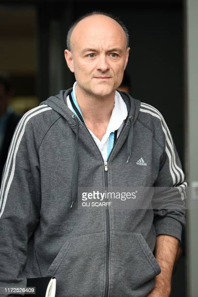 Number 10 special advisor Dominic Cummings attends the second day of the annual Conservative Party conference at the Manchester Central convention...