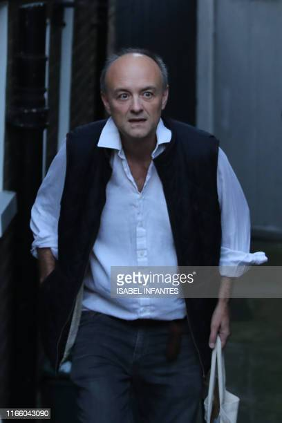 Number 10 special advisor Dominic Cummings gestures outside his home in London on September 5 2019 Britain geared up for an early election on...