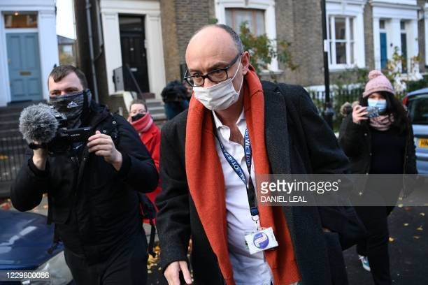 Number 10 special advisor Dominic Cummings leaves his residence in London on November 13 2020 British Prime Minister Boris Johnson's chief adviser...