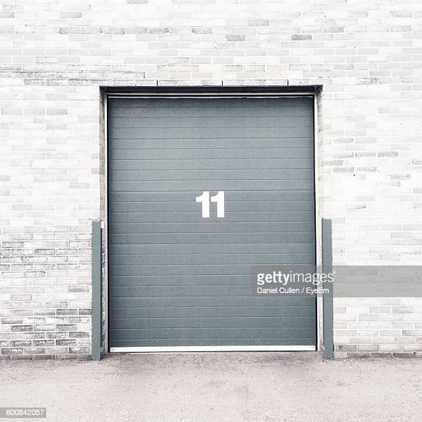 Number 11 On Closed Shutter