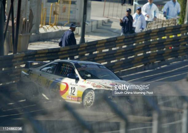 Number 12 Adelino de Assis from Macau loses control during the Hotle Fortuna trophy free practice during the 51st Macau Grand Prix19 November 2004